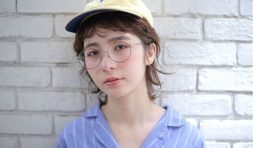 帽子と眼鏡スタイル