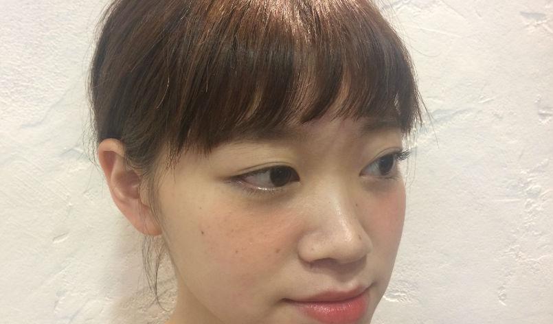 千織の眉スレスレ前髪