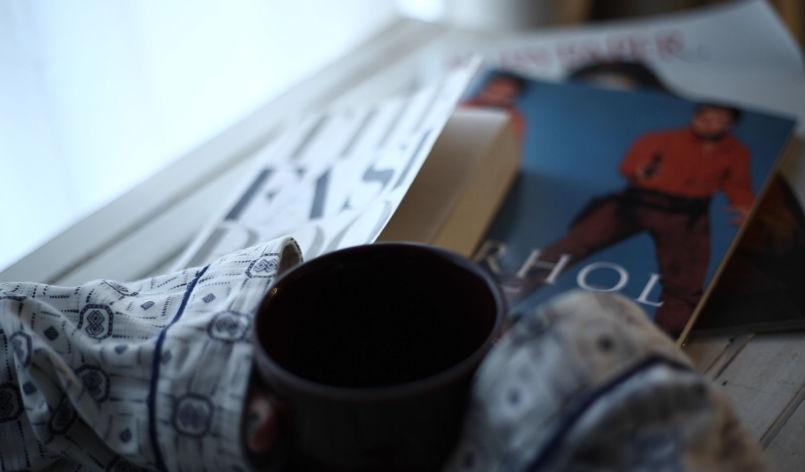 コーヒーと洋書